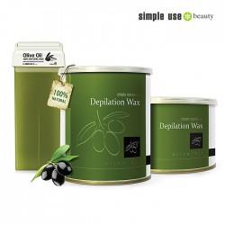 Simple Use naturālais depilācijas vasks ar olīveļļu 100ml