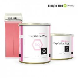 Simple Use розовый воск с диоксидом титана 100ml